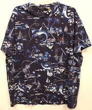 Polo Ralph Lauren Mens Blue Tropical Chest Pocket Cotton T-Shirt NWT Size XL