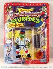 TMNT 1991 Sewer Sports Grand Slammin' Raph UNPUNCHED - PLAYMATES