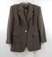 vintage 90s ESCADA MARGARETHA LEY jacket blazer wool big shoulders US 14 EU 44