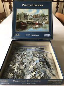 Gibsons 1000 Piece Jigsaw Puzzle 🧩 Padstow Harbour Cornwall, Terry Harrison