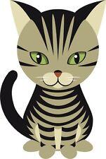 gato lindo gatito dibujos animados Pegatina gráfica Vinilo Etiqueta V1