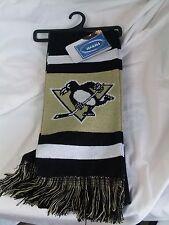"NWT NHL 2012 TEAM STRIPE ACRYLIC SCARF 64""x7"" - PITTSBURGH PENGUINS"