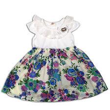Flor Niñas Vestido de Fiesta Lila Rosa 12-18 18-24 Meses 2 34 Años