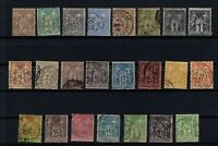 K139647/ FRANCE – SAGE TYPE – YEARS 1876 - 1898 USED CLASSIC LOT – CV 135 $