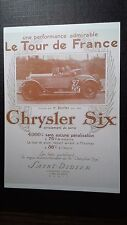 CPM PUBLICITE L'AUTOMOBILE AU DEBUT DU SIECLE CHRYSLER SIX