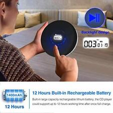 Rechargeable Portable CD Player for Car Compact Personal Shockproof LED Display