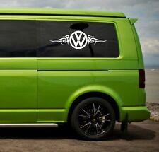 VW Volkswagen Camper t4 t5 Panel Lateral/Ventana VW Tribal Pegatina de vinilo Calcomanías x2