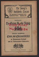 Wormerveer, publicité 1910, Royale Hollandaise CACAO-CHOCOLAT-Usines de J