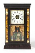 Seth Thomas Shelf Clock Mahogany veneer case fronted by grain-painte. Lot 1289