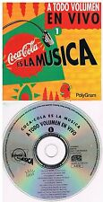 Coca Cola Is The Music - Live Compilation 1  CD 1993
