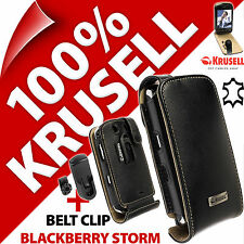 Krusell Orbit Flex Funda para Estuche Abatible de Cuero Genuino + Clip Para Blackberry Bold 9700