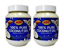2 x KTC 100% Pure Coconut Oil Hair & Skin Moisturiser,Cooking- 500ml (each)