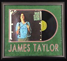 JAMES TAYLOR AUTOGRAPHED FRAMED MUD SLIDE SLIM SIGNED ALBUM