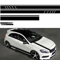 5Pcs Matte Black GM Racing Auto Side Stripe Sticker Car Hood Body Decal D IGZ