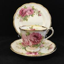 ROYAL ALBERT AMERICAN BEAUTY  BONE CHINA cup saucer and plate VINTAGE