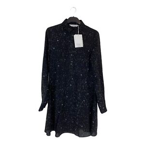 Womens & Other Stories black button front shirt Dress, Size 34 (UK Size 8 ) BNWT