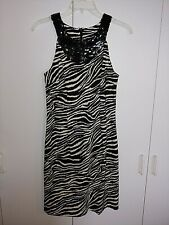 CONNECTED APPAREL LADIES SLEEVELESS PARTY/COCKTAIL DRESS-6-NWOT-ZEBRA PATTERN