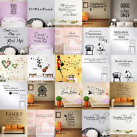 Removable Art Quote Vinyl Wall Stickers Decal Mural Bedroom Living Room Decor