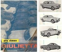 Alfa Romeo  GIULIETTA  1961   uso e manutenzione!   DRIVER'S HANDBOOK!