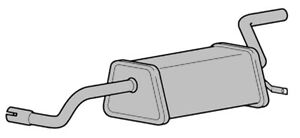 RENAULT CLIO MK3 1.2 05-12 EXHAUST REAR SILENCER BACK BOX