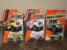 Matchbox Nice Lot of 3 International Workstar Brushfire Truck Variation Rescue