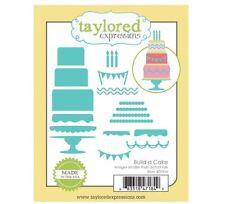 Taylored Expressions Cutting Die Set ~ BUILD A CAKE Birthdays, Weddings ~TE936
