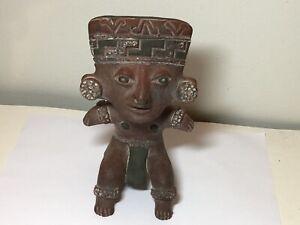 Vintage Terra-cotta Clay Aztec Mayan sculpture 71/2