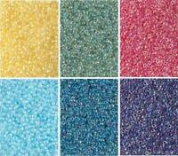 6 Colors Miyuki Round Seed Beads Size 11/0 Color Lined Crystal AB Colors 11-CMD8