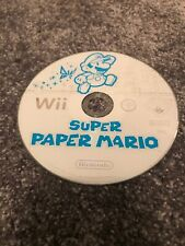 WII SUPER PAPER MARIO DISC ONLY HAS HEAVY SCRATCHES