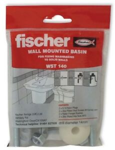 FISCHER Wall Mounted Basin WST 140 - For Fixing Washbasins To Solid Walls