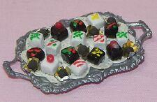 Dollhouse Miniature Chocolate Candy on Tray Handmade Artist