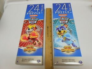 🔥 New lot 2 Paw Patrol 24 piece tower puzzles All Kids Easter Gift Mighty Pups