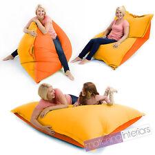 Yellow Orange Bean Bag Slab XXL Giant Beanbag Floor Cushion Adult Indoor Outdoor