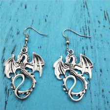 Dragon earrings,Silver handmade ear stud,Fashion charm jewelry pendant,Gift