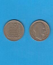 10 Francs Turin en Cupro-Nickel  1945 Rameaux courts Année plus rare