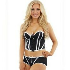 Sunburst Ladies Strapless Corset / Shorts Set - Black/White 38D / Medium #20A273