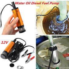 12V Submersible Pumps 38mm Water Oil  Fuel Diesel Transfer Refueling Detachable