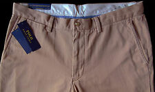 Men's POLO RALPH LAUREN Khaki Chino Cotton Pants 44x30 BIG NEW NWT Montana Khaki