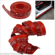 2.5m Red Rubber Foam Auto Front Bumper Body Kit Chin Protection Side Spoiler Lip