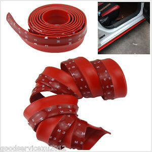 2.5m Red Rubber Foam Auto Front Bumper Body Kit Chin Protection Side Spoiler Lip