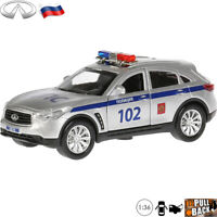 Diecast Car Scale 1:36 Infiniti QX70 Luxury SUV Russian Police Model Toy Cars