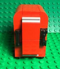 Lego New Red Retro Fridge,MOC Mini Figures Kitchen Interior Refrigerator Freezer