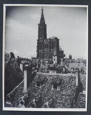 """CH. SPEHNER - Photo 1930   """" LES VIEUX TOITS DE STRASBOURG """"  Cachet"""
