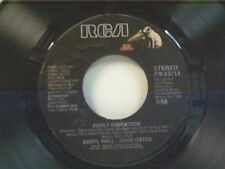 """HALL & OATS """"ADULT EDUCATION / MANEATER"""" 45 MINT"""
