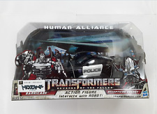 TRANSFORMERS HUMAN ALLIANCE BARRICADE & FRENZY RD-24 ROBOT FIGURE TOY POLICE CAR
