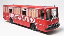 H0 BREKINA Bus Ikarus 255.71 Reisebus Einsatzleitung Feuerwehr DDR TOP # 59656.