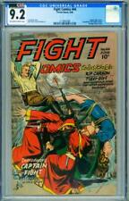 FIGHT #44 CGC 9.2 Wild bondage torture cover-spicy-hooded menace 2114697006
