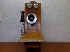 ANTIQUE KELLOGG QUARTER SAWED OAK CRANK WALL TELEPHONE #2560 BEAUTIFUL COND