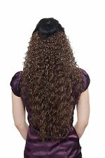 Hair piece,Half wig,Clip,Extension,curly,braun,length: approx. 70cm,H9311-10