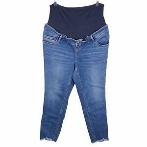 Old Navy Maternity Full Panel Rockstar Super Skinny Medium Wash Jeans Size 16